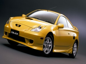 Postal: Toyota Celica amarillo
