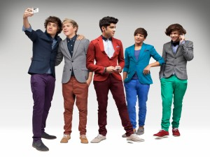 "Los cinco chicos del grupo ""One Direction"""