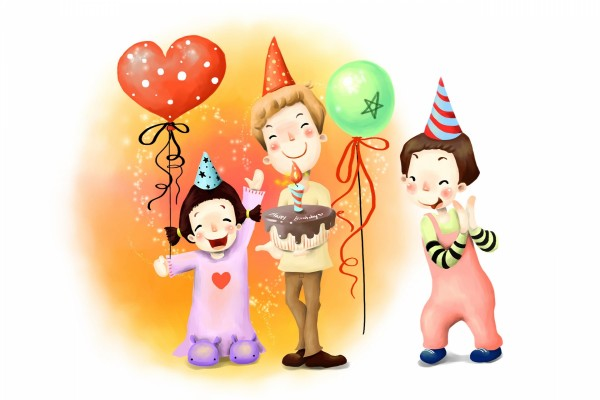 Familia festejando un cumpleaños