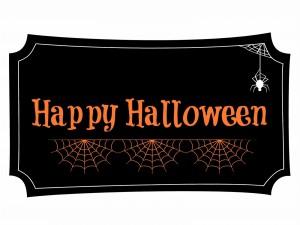 """Cartel de """"Feliz Halloween"""""""