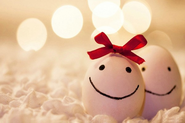 Pareja de huevos felices