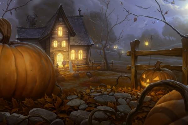 Pidiendo caramelos en la noche de Halloween