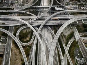 Postal: Carreteras en la ciudad de Los Ángeles