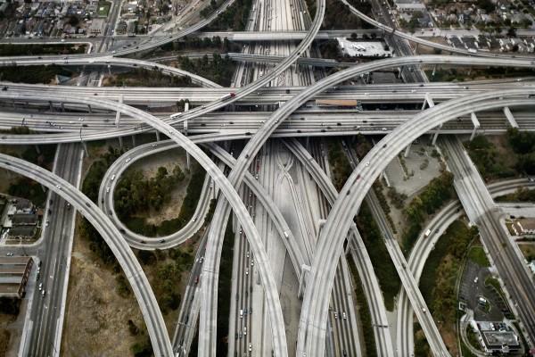 Carreteras en la ciudad de Los Ángeles