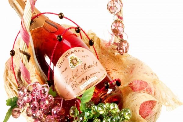 Una botella de champagne para regalar