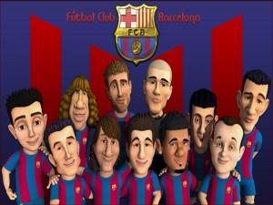 """Caricaturas del equipo """"Fútbol Club Barcelona"""""""