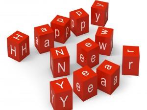 """Cubos de felicitación de """"Año Nuevo"""""""