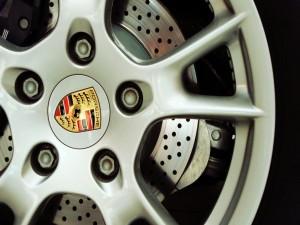 Llanta de un Porsche