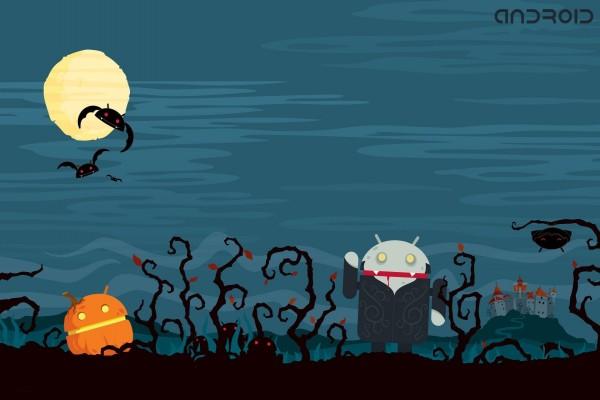 Android en la noche de Halloween