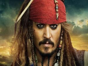 """Postal: Johnny Depp da vida a Jack Sparrow en """"Piratas del Caribe"""""""