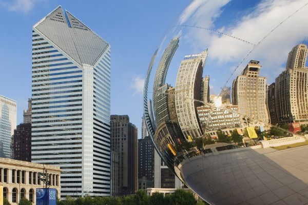 Cloud Gate en el Millenium Park (Chicago, Illinois)