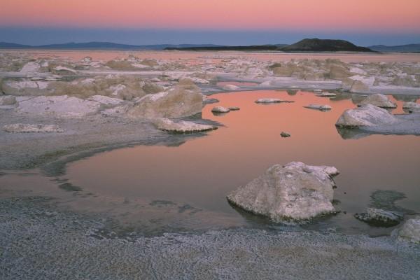 Lago en la estación seca