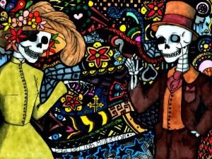 """Original dibujo de el """"Día de los Muertos"""""""