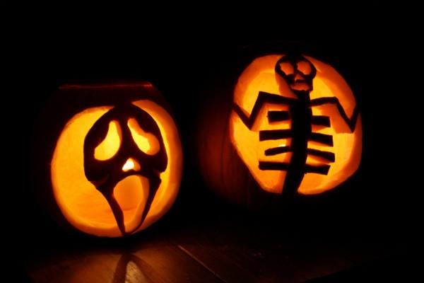 Unas originales calabazas para Halloween