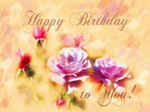 Bonita tarjeta de felicitación de cumpleaños
