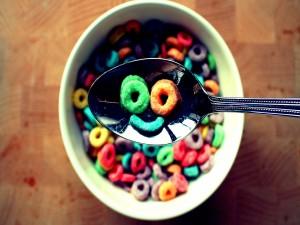 Carita feliz en los cereales