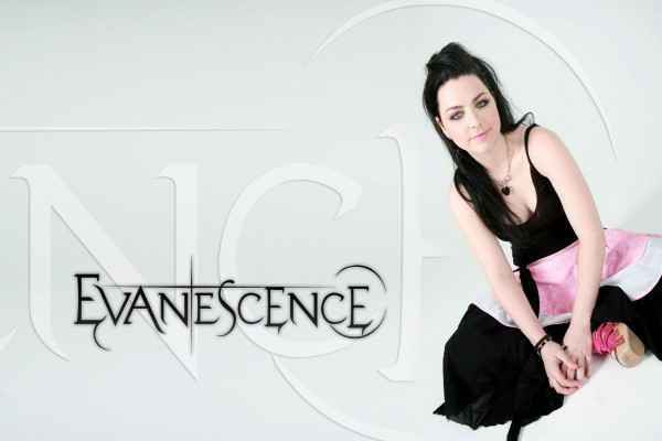 """La cantante Amy Lee del grupo """"Evanescence"""""""