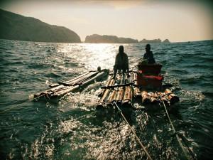 Pescando al amanecer en la isla Foca