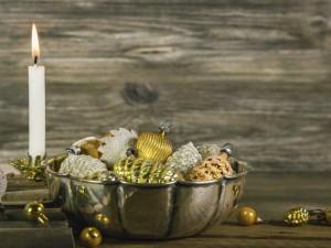 Centro de mesa para adornar en Año Nuevo y Navidad