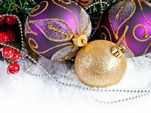Postal: Adornos para Navidad
