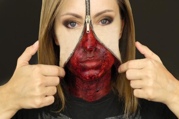 """Un terrorífico maquillaje para """"Halloween"""""""
