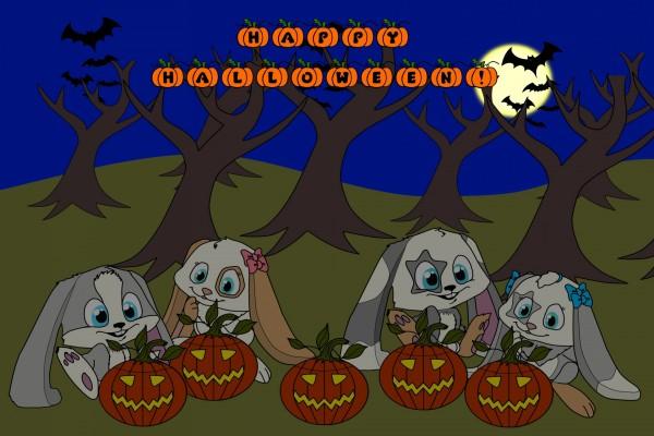 """Conejitos y calabazas te desean un """"Feliz Halloween"""""""