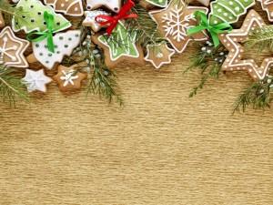 Arreglo navideño con exquisitas y bonitas masitas