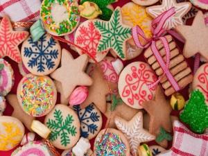 Masitas decoradas para festejar la Navidad