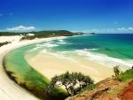 Vista de una preciosa playa virgen