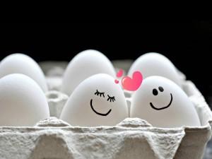 Huevos enamorados
