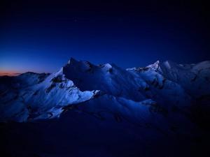 Bonita noche en las montañas