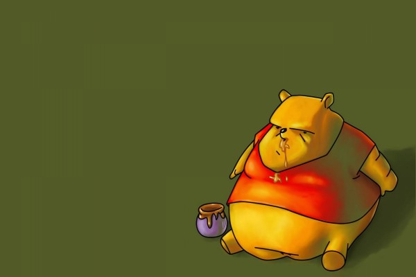 Winnie the Pooh comió demasiada miel