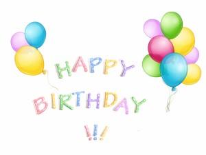 Globos de colores y ¡Feliz Cumpleaños!