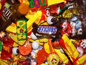 Postal: Caramelos y chocolatinas
