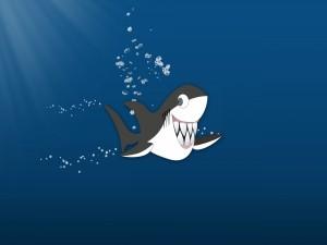 Postal: Un simpático tiburón