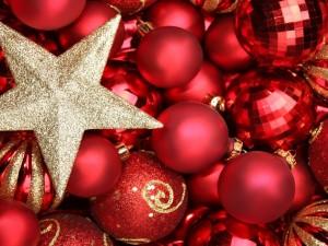 Postal: Bellos adornos navideños