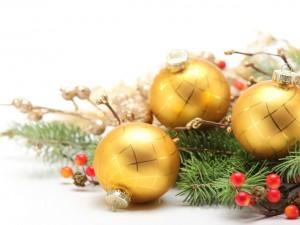 Postal: Bello arreglo navideño