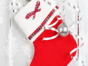 Postal: Bota para adornar en Navidad