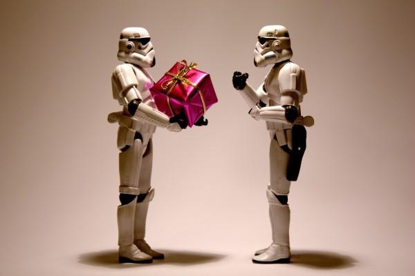 Soldados imperiales celebrando un cumpleaños