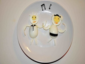 Huevos bailarines
