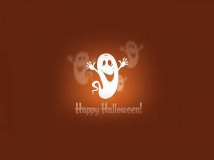 Postal: Un divertido fantasma te desea ¡Feliz Halloween!