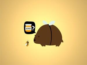 Un oso que sueña con ser abeja y comer mucha miel