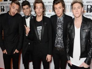 Postal: Los chicos de One Direction en los Brits Awards 2014