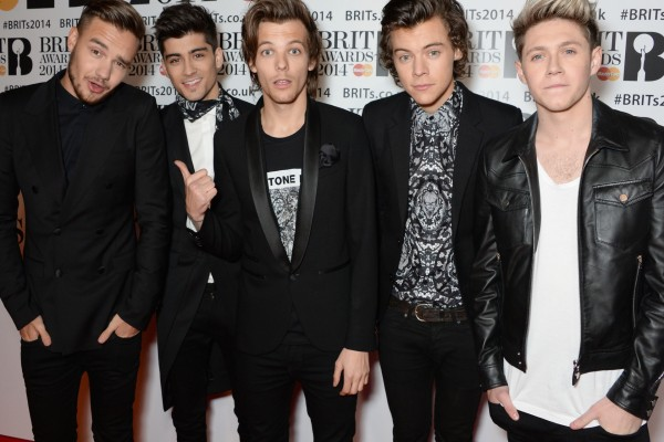 Los chicos de One Direction en los Brits Awards 2014