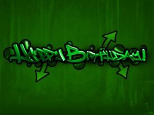 Postal: Graffiti ¡Feliz Cumpleaños!