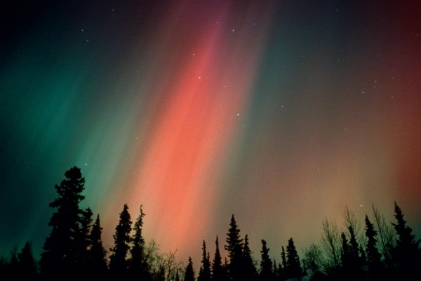 Los colores de una aurora boreal