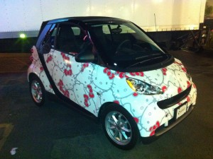 Postal: Coche Smart Hellow Kitty