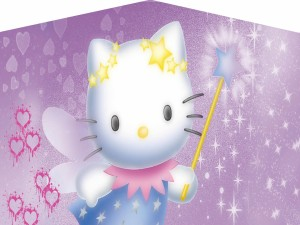 Hello Kitty haciendo magia