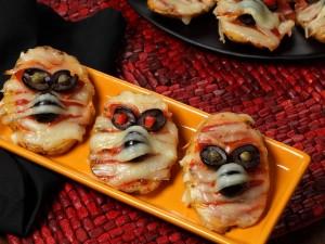 Postal: Patatas momia para cenar en Halloween