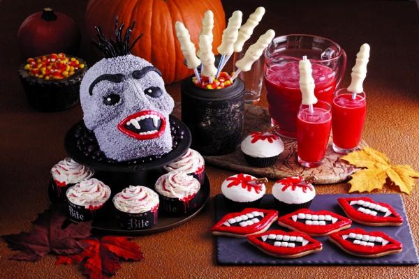 Comida y bebida vampírica para Halloween